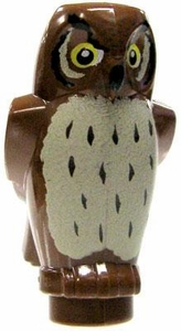 LEGO LOOSE Animal Figure Brown Owl [Printed]