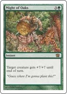 Magic the Gathering Eighth Edition Single Card Rare #265 Might of Oaks