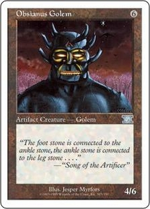 Magic the Gathering Starter 2000 Single Card Uncommon Obsianus Golem