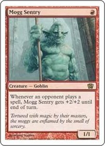 Magic the Gathering Eighth Edition Single Card Rare #203 Mogg Sentry