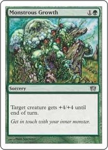 Magic the Gathering Eighth Edition Single Card Common #266 Monstrous Growth