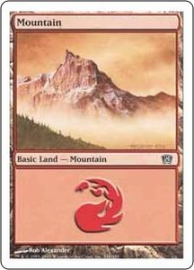 Magic the Gathering Eighth Edition Single Card Land #343 Mountain [Random Artwork]