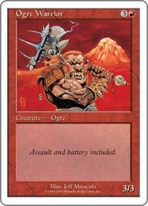 Magic the Gathering Starter 2000 Single Card Common Ogre Warrior