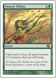 Magic the Gathering Eighth Edition Single Card Rare #269 Natural Affinity