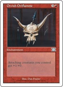 Magic the Gathering Starter 2000 Single Card Uncommon Orcish Oriflamme