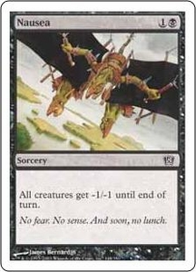 Magic the Gathering Eighth Edition Single Card Common #148 Nausea