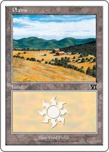 Magic the Gathering Starter 2000 Single Card Land Plains [Random Artwork]