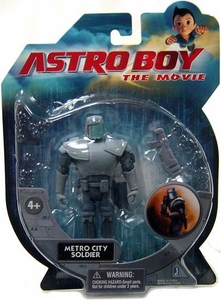 Jazwares Astro Boy The Movie 3 3/4 Inch Action Figure Metro City Soldier