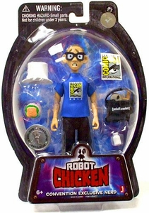 Jazwares Robot Chicken 2010 SDCC San Diego Comic Con Exclusive Action Figure Nerd