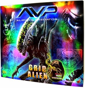AVP Hot Toys Exclusive Deluxe 16 Inch Model Figure Grid Alien with Facehugger