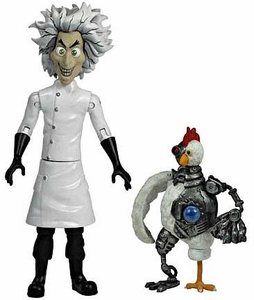 Jazwares Robot Chicken Action Figure Mad Scientist & Robot Chicken