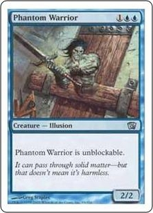 Magic the Gathering Eighth Edition Single Card Uncommon #93 Phantom Warrior