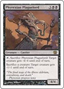 Magic the Gathering Eighth Edition Single Card Rare #153 Phyrexian Plaguelord