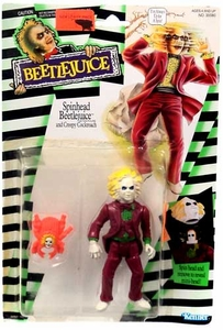 Kenner 1989 Beetlejuice Action Figure Spinhead Beetlejuice & Creepy Cockroach