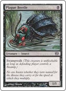 Magic the Gathering Eighth Edition Single Card Common #154 Plague Beetle