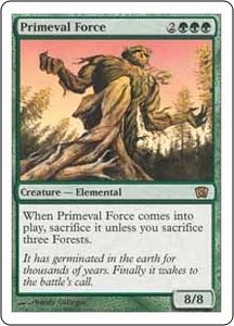Magic the Gathering Eighth Edition Single Card Rare #273 Primeval Force