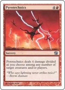 Magic the Gathering Eighth Edition Single Card Uncommon #211 Pyrotechnics