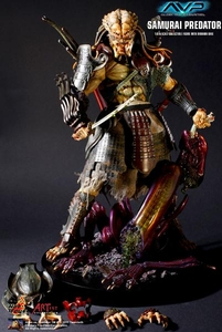 Alien vs Predator Hot Toys Movie Masterpiece 1/6 Scale Collectible Figure Samurai Predator