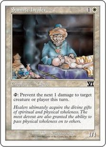 Magic the Gathering Starter 2000 Single Card Common Samite Healer