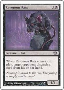 Magic the Gathering Eighth Edition Single Card Common #158 Ravenous Rats
