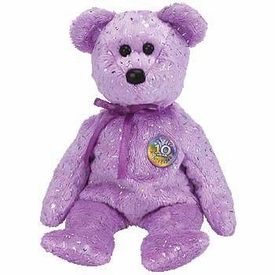 Ty Beanie Baby Purple Decade the Bear
