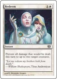 Magic the Gathering Eighth Edition Single Card Common #37 Redeem