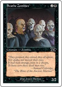 Magic the Gathering Starter 2000 Single Card Common Scathe Zombies