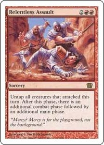 Magic the Gathering Eighth Edition Single Card Rare #214 Relentless Assault
