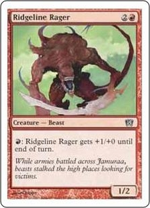 Magic the Gathering Eighth Edition Single Card Common #215 Ridgeline Rager