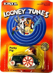 Looney Tunes Die Cast Metal Vehicle Porky Pig Tractor Damaged Package, Mint Contents!