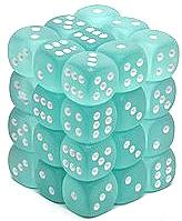 Dice Gaming Supplies 36 Count 12mm 6-Sided d6 Dice Pack Frosted [Teal/White 27805]