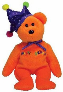 Ty Beanie Baby Happy Birthday the Orange Bear