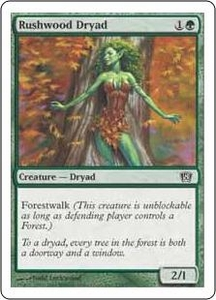 Magic the Gathering Eighth Edition Single Card Common #278 Rushwood Dryad
