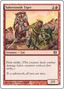 Magic the Gathering Eighth Edition Single Card Common #217 Sabretooth Tiger