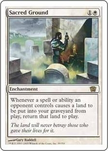 Magic the Gathering Eighth Edition Single Card Rare #39 Sacred Ground