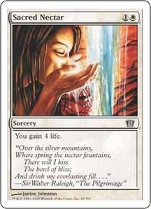 Magic the Gathering Eighth Edition Single Card Common #40 Sacred Nectar