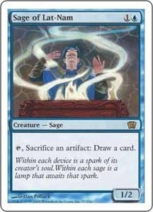 Magic the Gathering Eighth Edition Single Card Rare #97 Sage of Lat-Nam