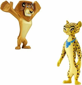 World of Madagascar Movie Exclusive Mini Figure 2-Pack Alex & Gia
