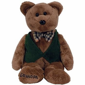Ty Store Exclusive Beanie Baby Papa the Grandpa Bear