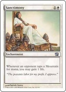 Magic the Gathering Eighth Edition Single Card Uncommon #42 Sanctimony