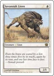 Magic the Gathering Eighth Edition Single Card Rare #43 Savannah Lions