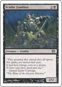 Magic the Gathering Eighth Edition Single Card Common #160 Scathe Zombies