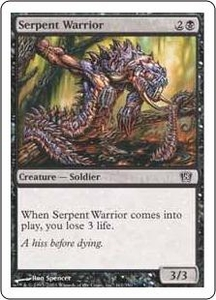 Magic the Gathering Eighth Edition Single Card Common #161 Serpent Warrior