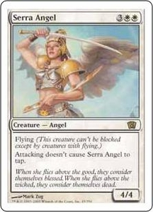Magic the Gathering Eighth Edition Single Card Rare #45 Serra Angel