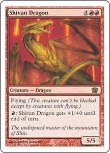 Magic the Gathering Eighth Edition Single Card Rare #221 Shivan Dragon