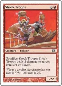 Magic the Gathering Eighth Edition Single Card Common #223 Shock Troops