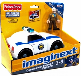 Imaginext Exclusive DC Super Friends Gotham City Collection Figure Commissioner Gordon & Police Car