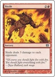 Magic the Gathering Eighth Edition Single Card Common #224 Sizzle