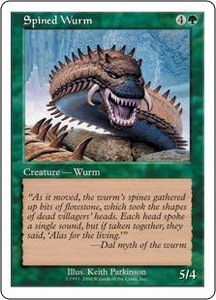 Magic the Gathering Starter 2000 Single Card Common Spined Wurm