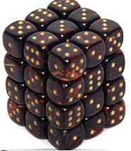Dice Gaming Supplies 36 Count 12mm 6-Sided d6 Dice Pack Scarab [Blue Blood/Gold 27819]